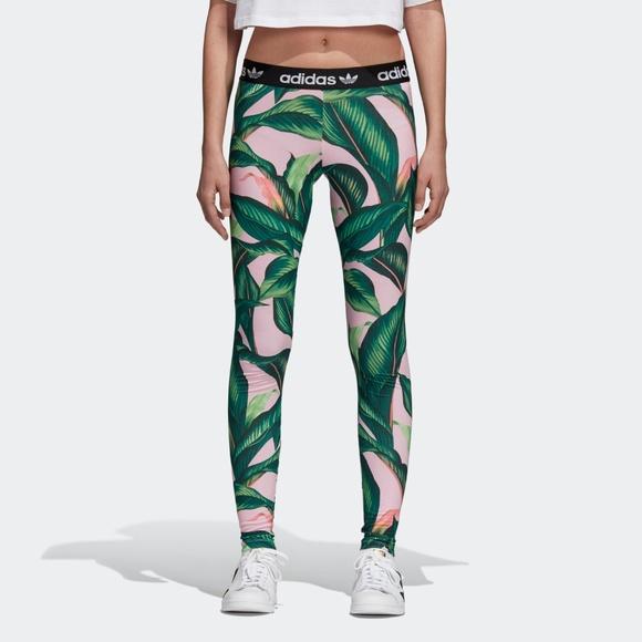 a0923153c59 adidas Pants | Nwt Originals Farm Big Leaf Leggings S | Poshmark